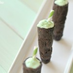 Shamrock Shake Thin Mint Shooters by 1 Fine Cookie for Saint Patrick's Day