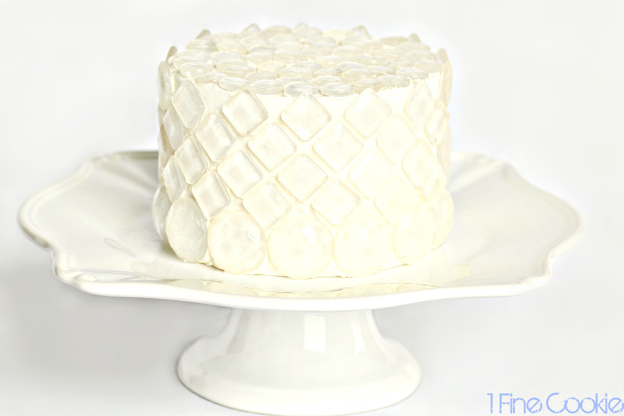 Sugar Isomalt Diamond Covered Cake, and Tips for Using