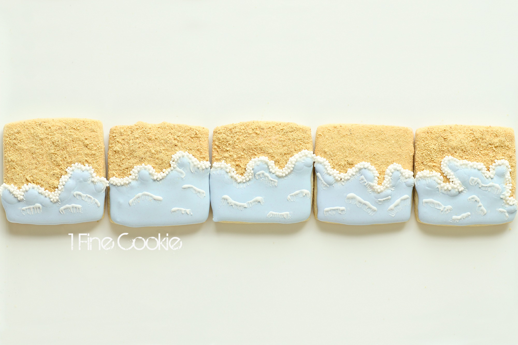 Seashore Sandy Beach Cookies 1 Fine Cookie