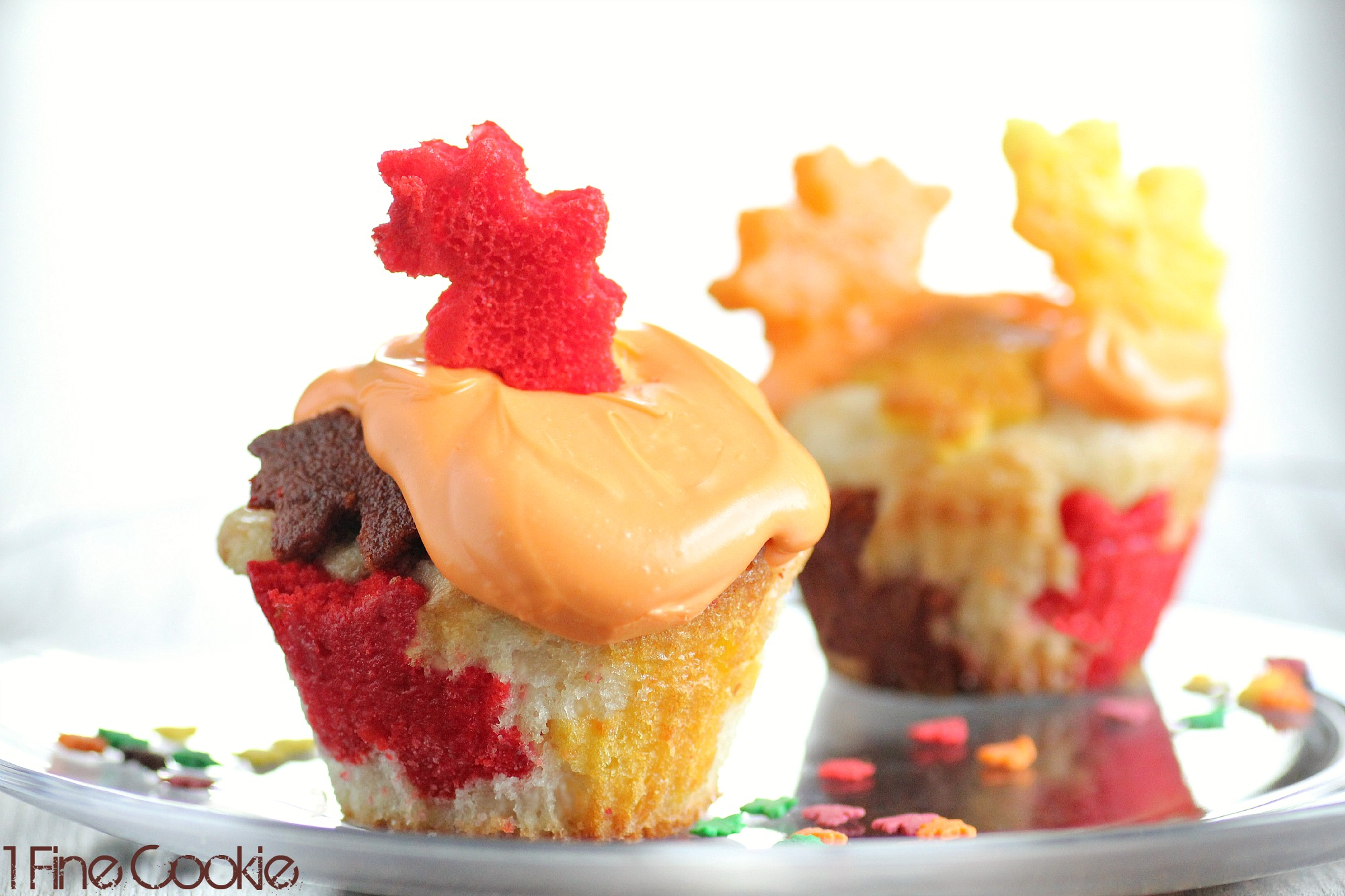 Fall leaves cupcakes by 1 fine cookie fall leaves leaf baked into