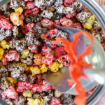 Colorful Autumn Halloween Popcorn by 1 Fine Cookie, Halloween, Popcorn, 1 Fine Cookie, Bacon Cheddar, Nacho Cheddar, Milk Chocolate, Caramel, Butter, Buffalo, Popcorn, Seasoning, Kernel Seasons, Jasmin Fine, colored, how to, make, dye, without, koolaid, sugar, savory, sweet, pop, orange, red, brown, yellow, powdered, food coloring, treat, party, ideas, table, wedding, favors, thanksgiving, fall, burlap, tan, gold, pumpkins, decor, decoration,